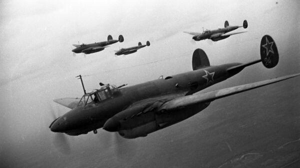 Советские бомбардировщики Пе-2