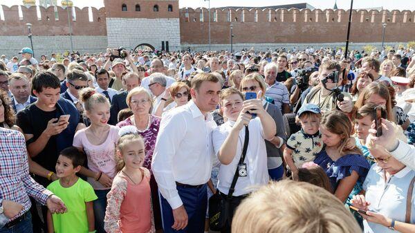 В день открытия Казанской набережной в Туле