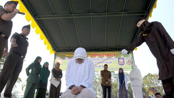 Избиение женщины по законам шариата