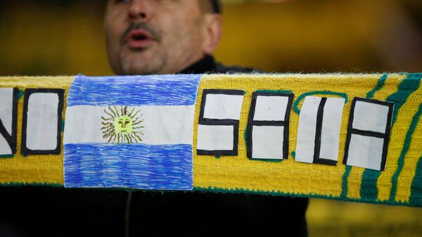 Шарф Нанта с флагом Аргентины в память об Эмилиано Сале