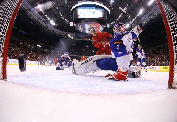 Хоккей. Молодежный чемпионат мира. Матч Россия - Словакия