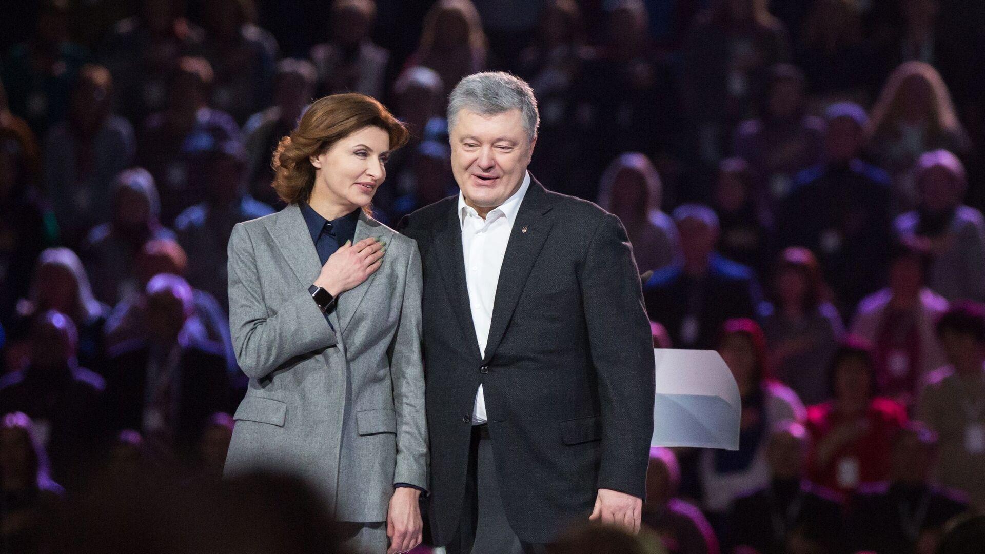 Президент Украины Петр Порошенко с супругой Мариной - РИА Новости, 1920, 16.09.2020