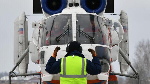 Вертолет Камов Ка-32А/АО в Московском авиационном центре
