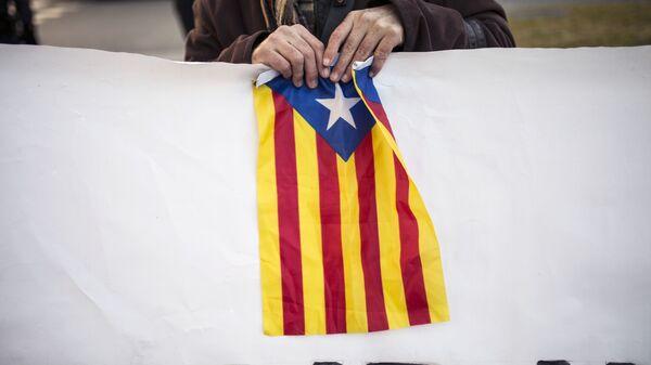 Акция с требованием независимости Каталонии