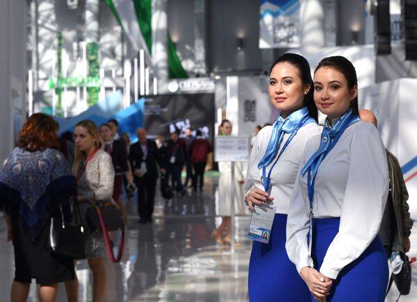 Участницы Российского инвестиционного форума в Сочи. 13 февраля 2019