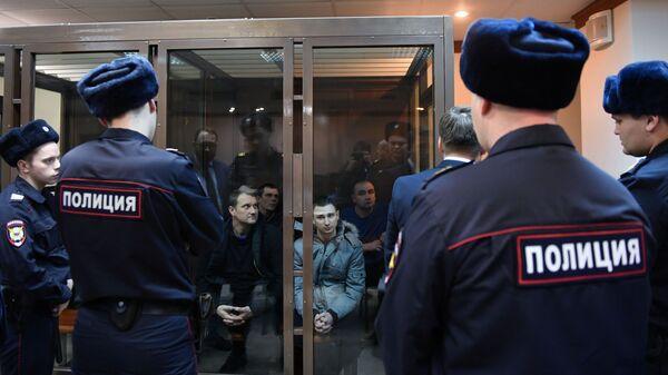 Задержанные украинские моряки в Мосгорсуде