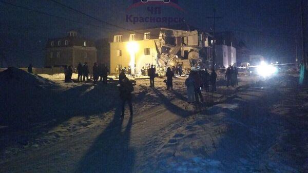 Последствия взрыва газа в Красноярске
