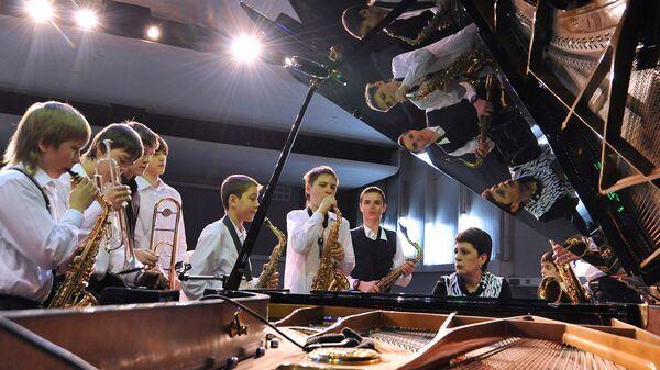 Репетиция детского джазового ансамбля