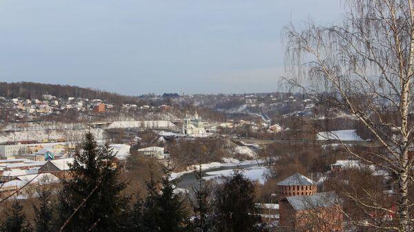 В Смоленске строительные леса обрушились на крепостной стене