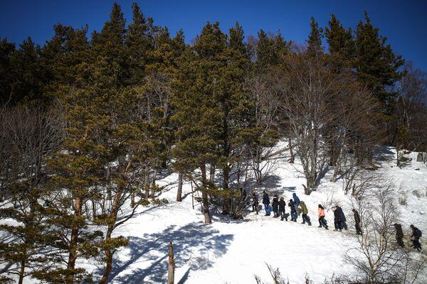 Туристы на Лагонакское нагорье в республике Адыгея