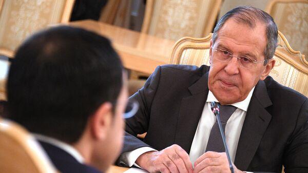 Министр иностранных дел РФ Сергей Лавров во время встречи с министром иностранных дел Кипра Никосом Христодулидисом в Москве. 22 февраля 2019