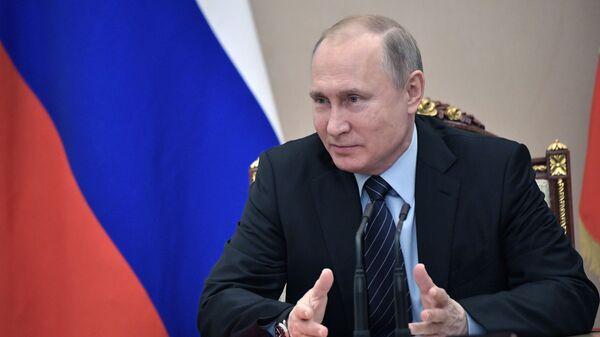 Президент РФ Владимир Путин проводит совещание с постоянными членами Совета безопасности РФ. 22 февраля 2019