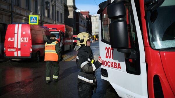 Сотрудники противопожарной службы МЧС России