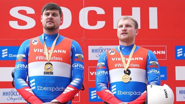 Россияне Александр Денисьев (слева) и Владислав Антонов