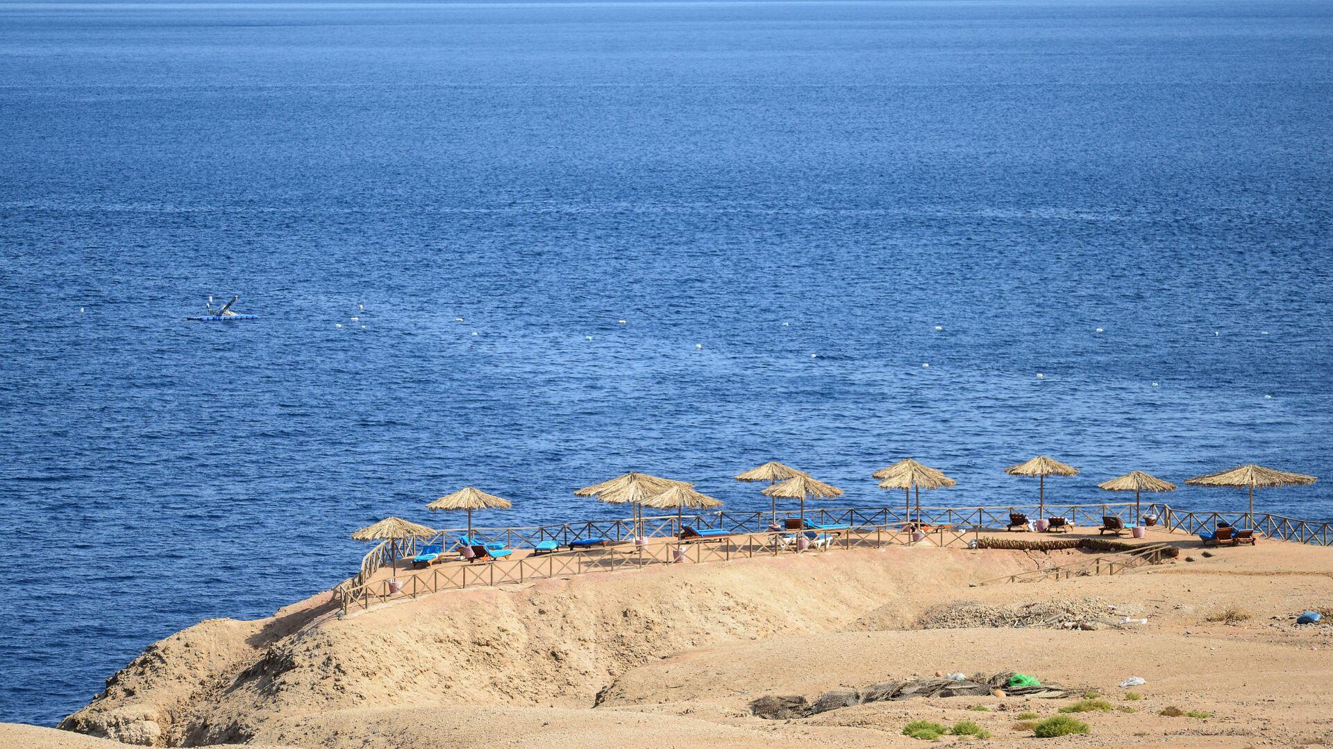 Вид на пляж в Шарм-эль-Шейхе - РИА Новости, 1920, 19.07.2021
