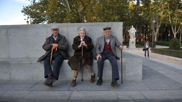 Испанские пенсионеры в Мадриде