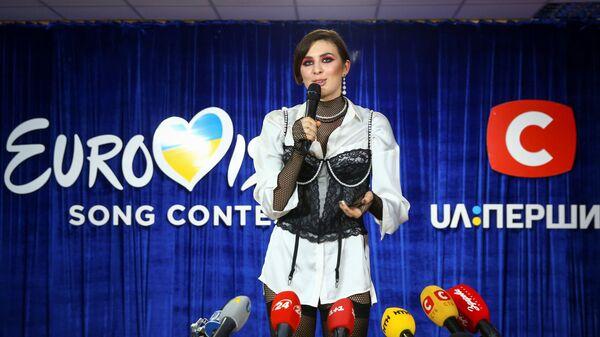 Певица Анна Корсун (MARUV) после национального финального отбора на конкурс Евровидение в Киеве