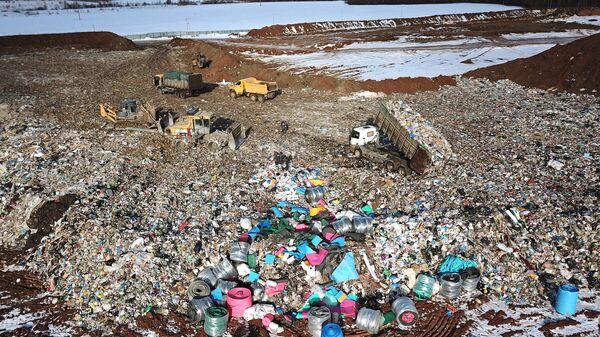 Полигон твердых бытовых отходов Алексинский карьер в Клинском районе Московской области
