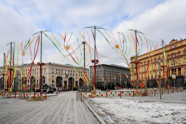 Украшение Москвы к Масленице