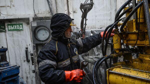 Буровая установка в Красноярском крае