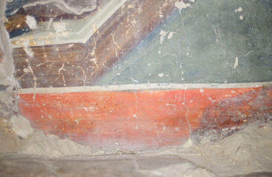 Великий Архиерей – Спас на Троне, фрагмент полихромный образец фрески Феофана Грека.