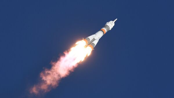 Ракета-носитель Союз-ФГ после запуска