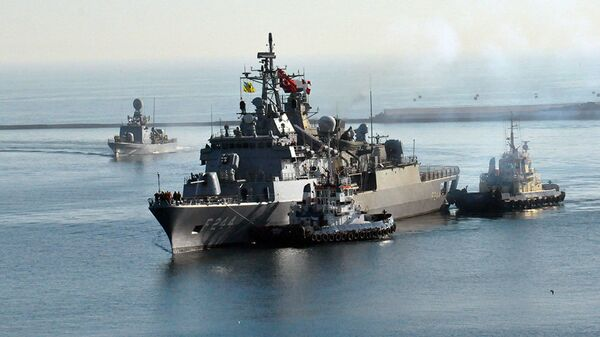 Турецкий фрегат TCG Barbaros в Одессе. 6 марта 2019