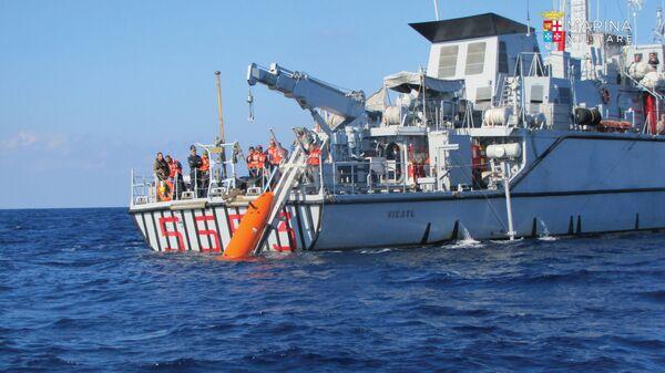 Итальянский военный корабль обнаружил обломки крейсера Джованни-делле-Банде-Нере. 10 марта 2019