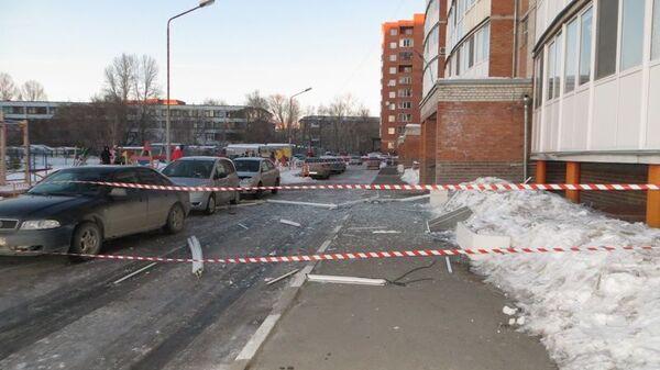 Происшествие на улице Малиновского в Омске. 9 марта 2019