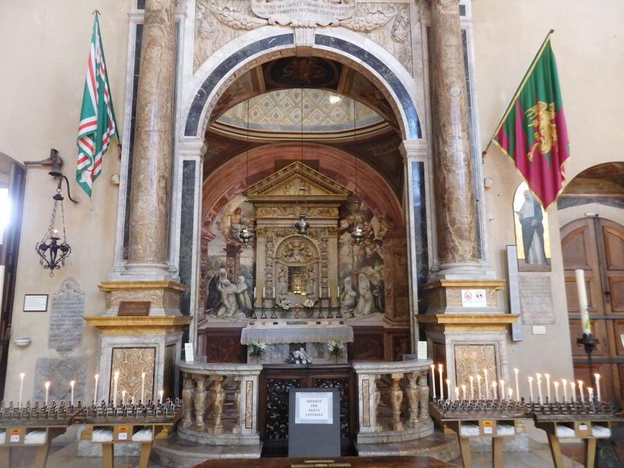 Тоскана. Сиена. Церковь Св. Доминика