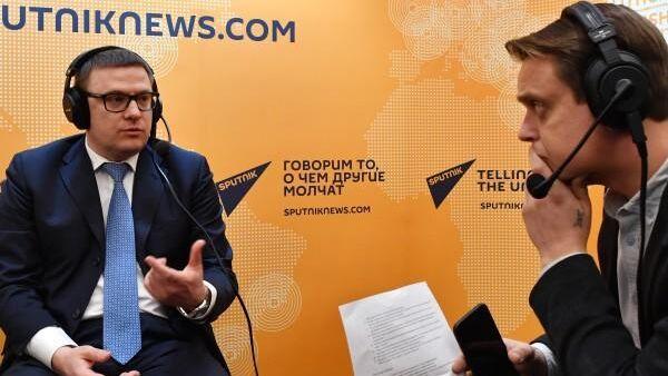 Первый заместитель министра энергетики РФ Алексей Текслер в эфире радио Sputnik