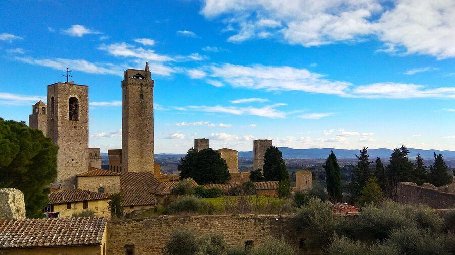 Тоскана. Башни в Сан-Джиминьяно