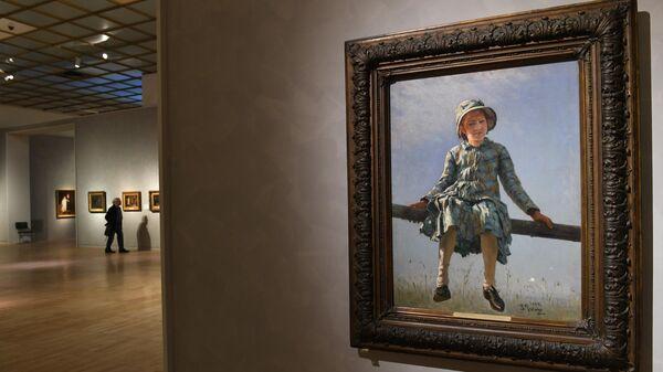 Картина Стрекоза на выставке Ильи Репина в Третьяковской галерее на Крымском валу