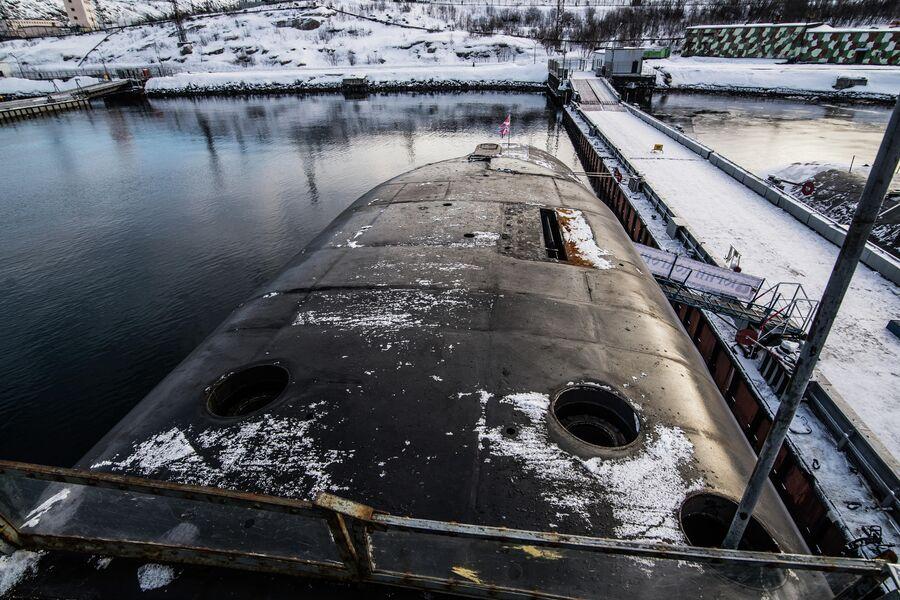 Ограждение рубки подводного крейсера Юрий Долгорукий
