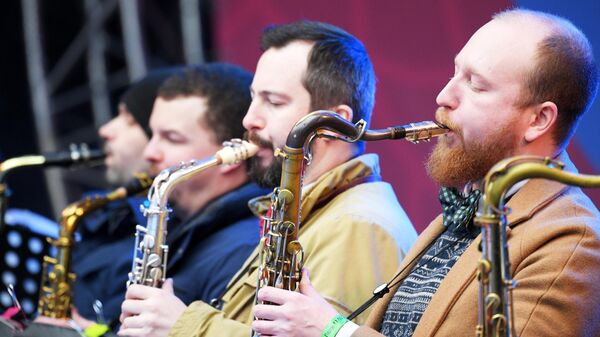 Музыканты Большого Джазового Оркестра под управлением Петра Востокова