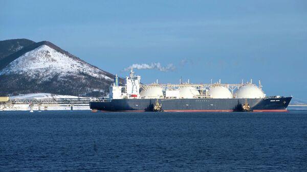 Танкер-газовоз Гранд Анива, для перевозки сахалинского сжиженного природного газа