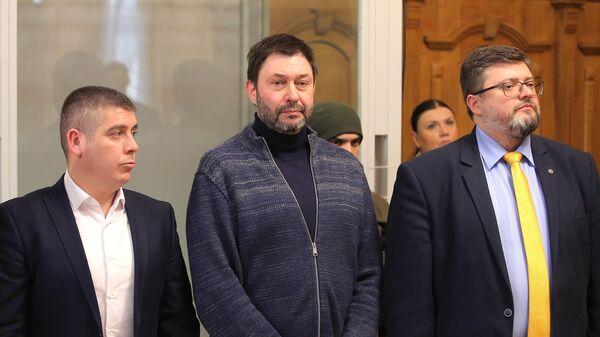 Руководитель портала РИА Новости Украина Кирилл Вышинский в Верховном суде Украины. 20 марта 2019