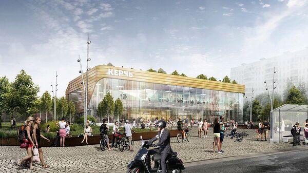 Дизайн-проект кинотеатра Керчь в районе Бирюлево Восточное на юге Москвы