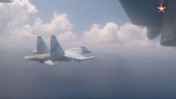 Видео учений Су-35С в Сирии