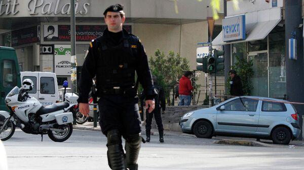 Сотрудники полиции в Греции