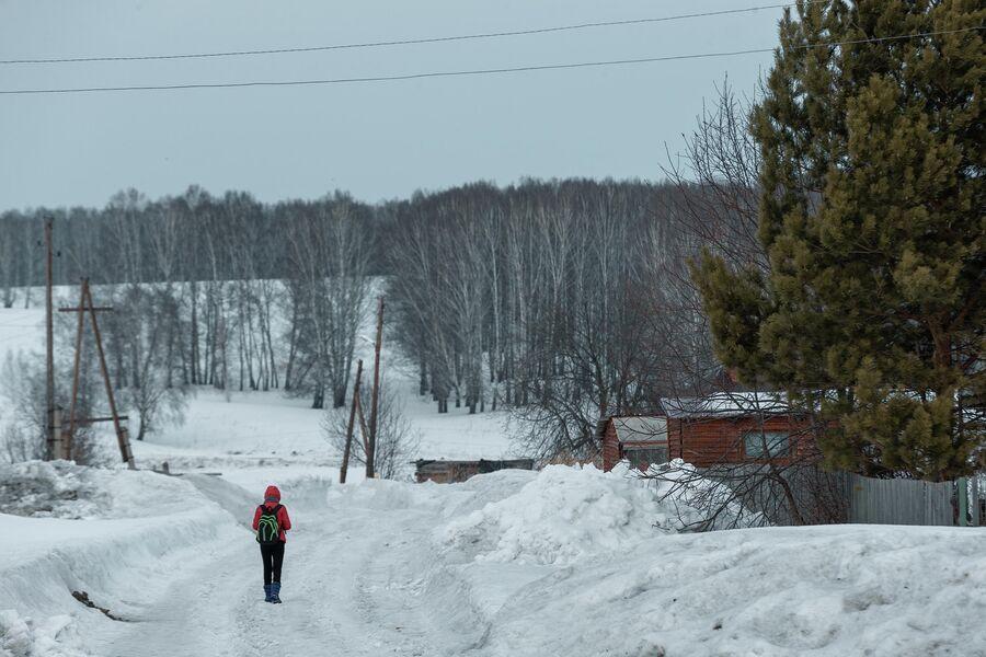 В поселке Трещевский
