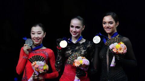 Элизабет Турсынбаева, Алина Загитова и Евгения Медведева