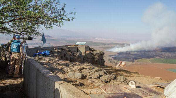 Наблюдатели ООН на оккупированных Израилем Голанских высотах