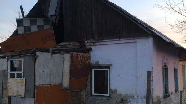 Пожар в частном доме в Омске на улице Барнаульская. 24 марта 2019