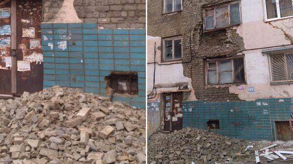 Дом №3 на ул. Измайлова. Из фасада высыпались кирпичи