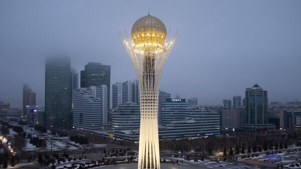 Монумент Астана-Байтерек в Нур-Султане. 23 марта столица Казахстана Астана переименована в Нур-Султан