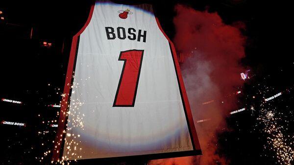 Игровая футболка Криса Боша в команде НБА Майами