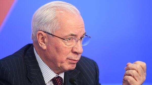 Николай Азаров во время пресс-конференции на тему: Президентские выборы на Украине: кто пройдет во второй тур?