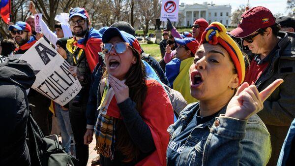 Митинг против вмешательства США в дела Венесуэлы