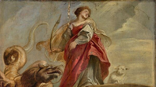 Эскиз художника Питера Пауля Рубенса Святая Маргарита